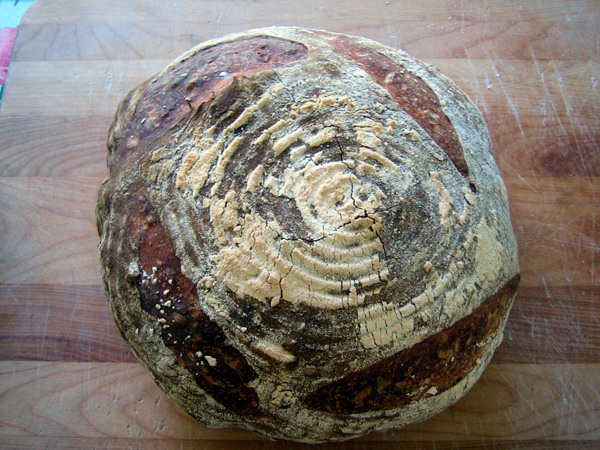 a sourdough miche