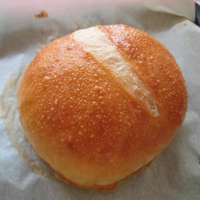 glazed roll with yolk
