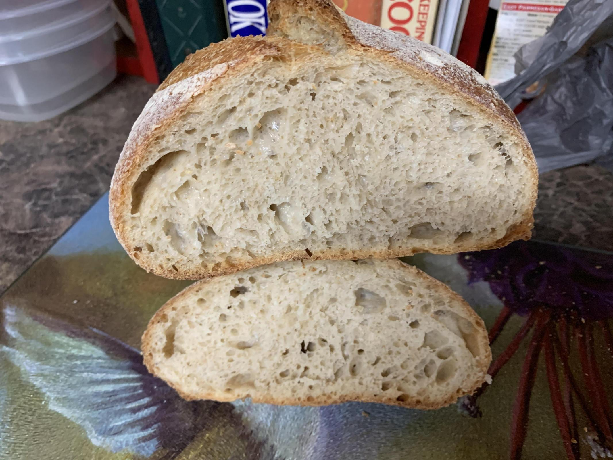 Crumb of first loaf
