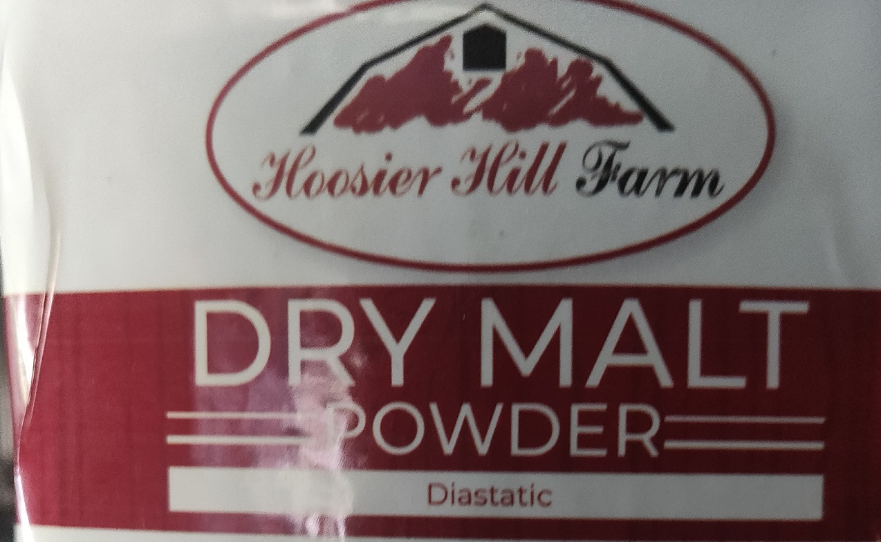 malt powder label