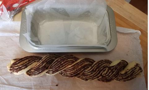 Babka loaf - twisted and far too long