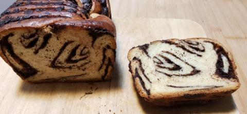 Babka loaf crumb shot 1