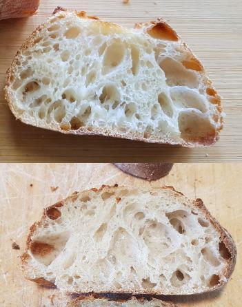 Baguette - white vs 7% rye