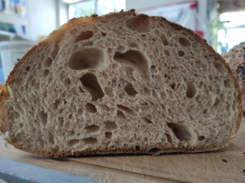 Happy with the crumb