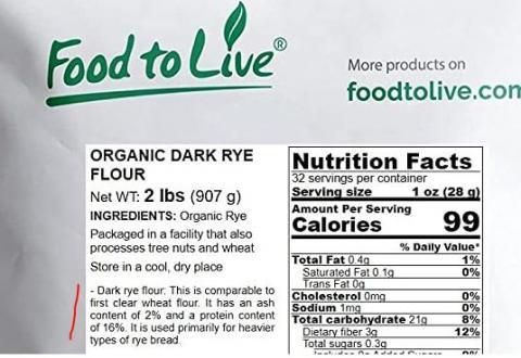 Dark rye - Food to Live - Amazon