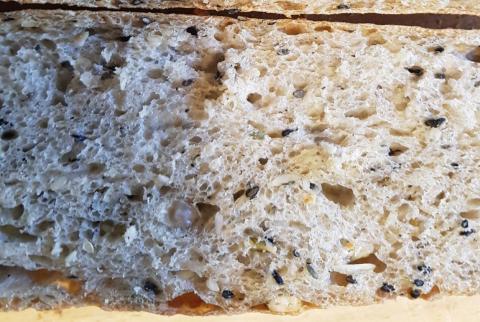 Seeded baguette a la Alfanso - crumb detail