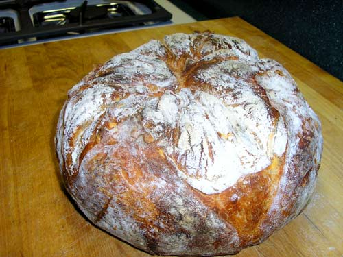 Super Low Tech Tin Foil Hat No Knead Loaves Baguettes The Fresh Loaf