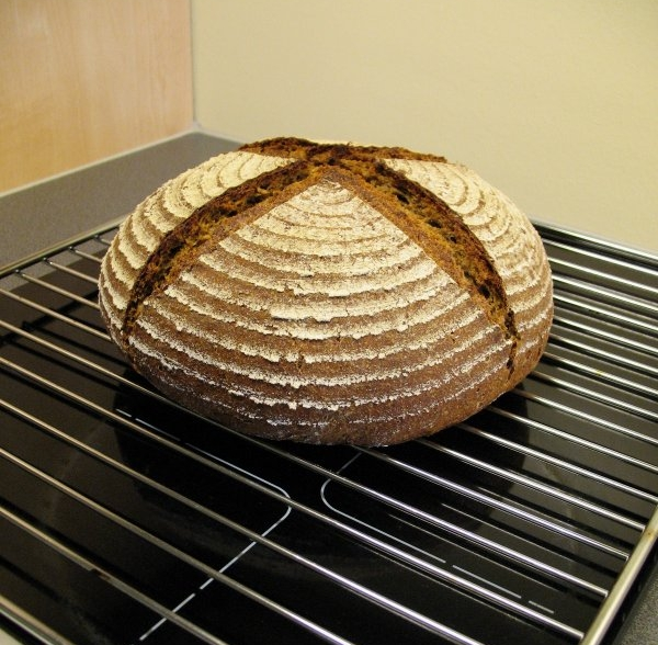 Side view of Schwarzbrot